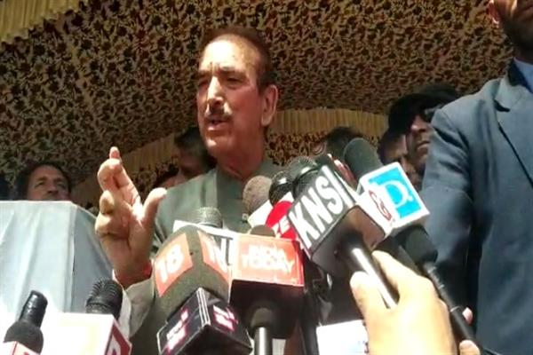 Azad blames BJP for political provocations in Kashmir